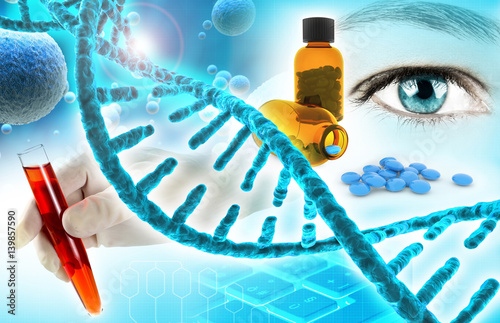biochemistry and pharmaceutical research concept background