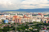 Krasnoyarsk aerial panoramic view