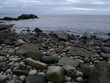 Acadia Maine boulders at the waters edge