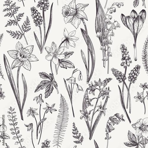 Seamless floral pattern. - 139886735