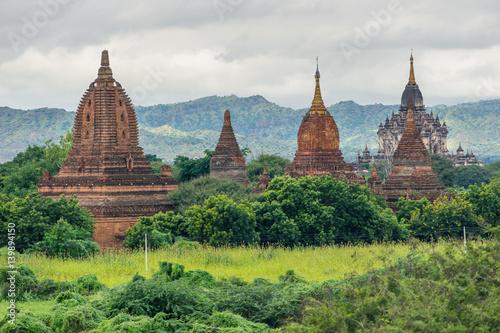 Poster Pagodas and temples in Bagan ancient city, Mandalay, Myanmar