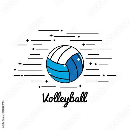 Fototapeta symbol volleyball play icon