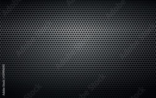 czarna perforowana metalowa tekstura tło