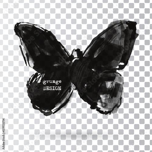 Keuken foto achterwand Vlinders in Grunge Rorschach test illustration.
