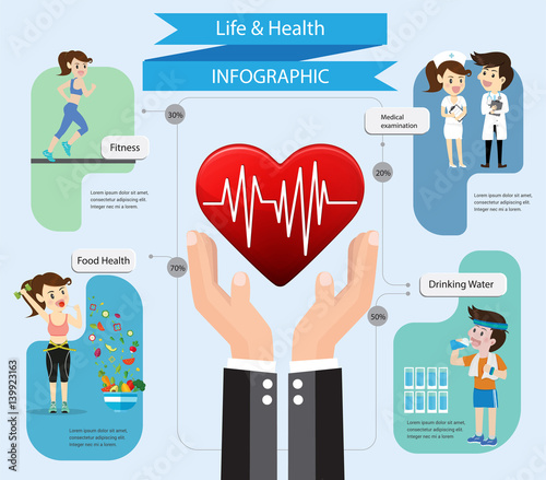 Health insurance service. Care and protect you life .Hand business agent holding heart shape rate.