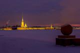 Sunrise in St. Petersburg, Russia