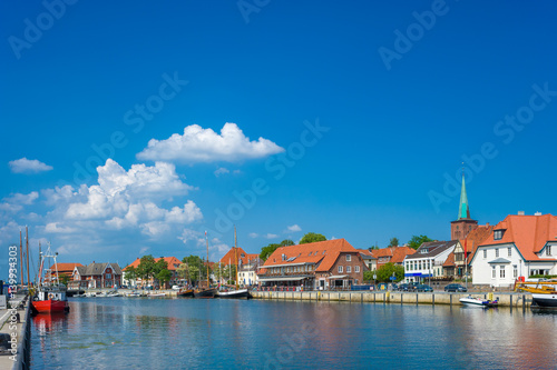 Keuken foto achterwand Schip Hafen in Neustadt in Holstein