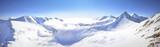 Panoramic view of winter west Tatra mountain.