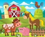 Farmland with animals theme 1