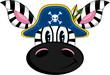 Cute Cartoon Zebra Pirate Captain