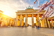 Brandenburg gate at spring, Berlin