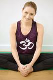 Frau bei Yoga und Meditation