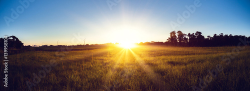 Sunrise country landscape