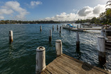 Sydney Harbour, old wooden jetty