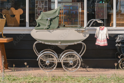 Poster Beautiful old fashioned stroller