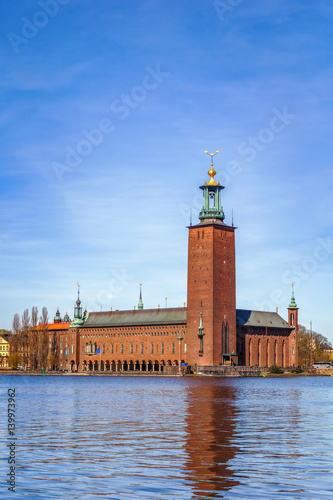Foto Spatwand Stockholm Stockholm City Hall