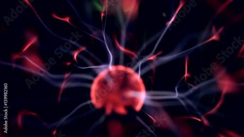 Staande foto Abstract wave Plasma Globe
