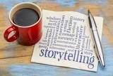 storytelling  word cloud on napkin - 139986513