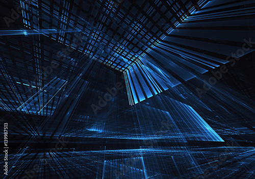 Abstract technology illustration - 139987513