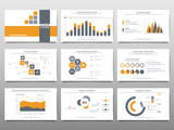 Elements for infographics on a white background. Presentation templates. Use in presentation, flyer, corporate report, marketing, advertising, annual report. - 140009384