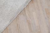 Parquete floor with beige soft carpet - 140013923