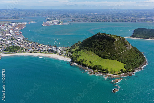 Poster Aerial view of Mt Maunganui, North Island, New Zealand