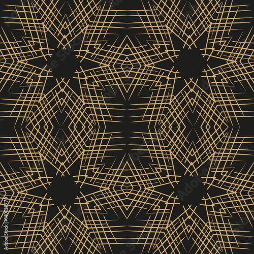 Abstract vector lace seamless pattern - 140028770