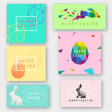Fototapety Rabbit abstract triangle Happy Easter. sketch design.Vector illustration.