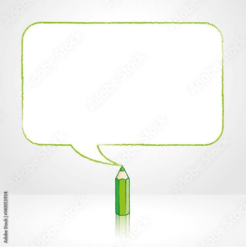 Gamesageddon Green Pencil Drawing Smooth Rectangular Speech