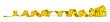 Quadro yellow metric measuring tape isolated on white panorama background / maßband gelb isoliert panorama hintergrund