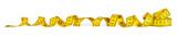 yellow metric measuring tape isolated on white panorama background / maßband gelb isoliert panorama hintergrund - 140054916