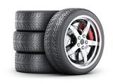 Four car wheel - 140067789