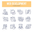 Web Development Doodle Icons