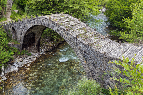 Old stone bridge in Epirus, Greece