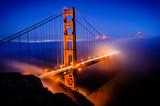 Golden Gate Bridge, San Francisco at sunrise, California