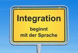 Fototapety Integration beginnt mit der Sprache - Einwanderung und Sprachkurs