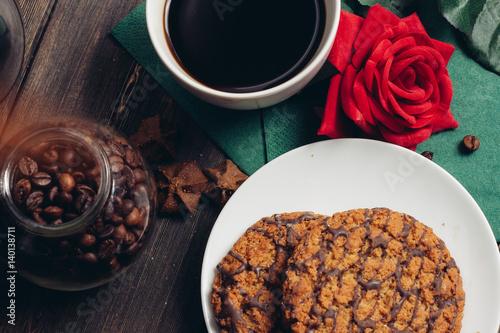 coffee mug tea bun dessert  © ageevphoto