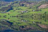 Vangsvatnet, mirror lake at Voss, Norway.
