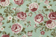 Colorful Cotton fabric in vintage rose pattern for background or texture - 140159397