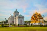 Ananta Samakhom Throne Hall with Barom Mangalanusarani Pavilion at the Royal Dusit Palace in Bangkok, Thailand - 140165956