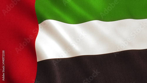 Fotobehang Abu Dhabi UAE Flag - United Arab Emirates