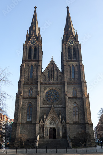 Church of St. Ludmilla in Prague Poster