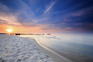 Sunset on the beach on the Baltic Sea © fotorince