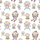 Seamless background with babies