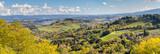 Panorama de campagne italienne autour de San Gimignano, Toscane