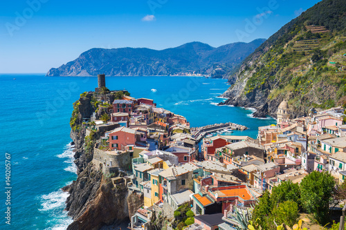 Vernazza one of five famous village in Cinque Terre, Italy Poster