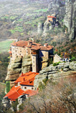 Hanging monasteries of Meteora. central Greece