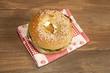 A chicken sandwich on a bagel