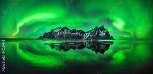 Panel Szklany Stokksnes aurora