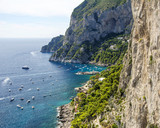 Detail of the coast of Capri